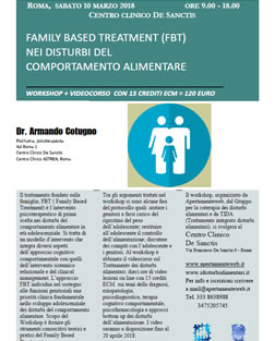 FAMILY BASED TREATMENT (FBT) NEI DISTURBI DEL COMPORTAMENTO ALIMENTARE